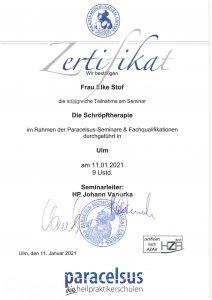 Zertifikat - Fusspflege
